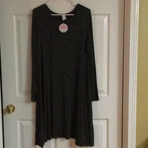 Bellamie Dress Size Large Charcoal Gray NWT